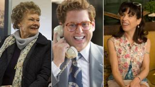 Dame Judi Dench in Philomena, Jonah Hill in The Wolf of Wall Street and Sally Hawkins in Blue Jasmine