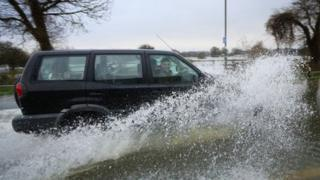 flooding in Chertsey, Surrey