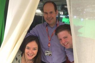 Rory Cellan-Jones with members of the technology team