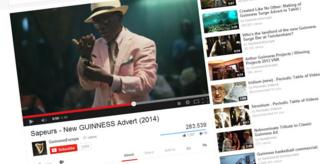Grab of Guinness ad on YouTube