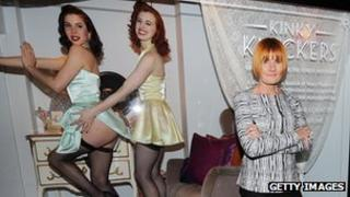 Mary Portas with Kinky Knickers advert