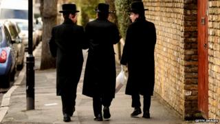 Jewish boys walking