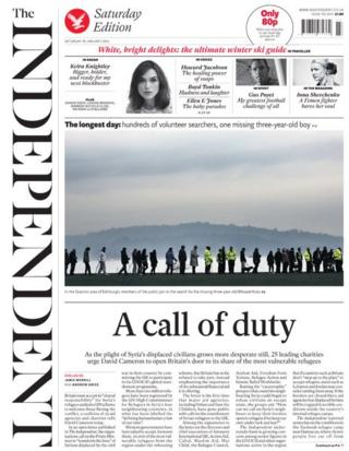 Independent front page 18/1/14