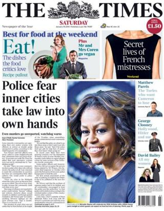 Times front page 18/1/14