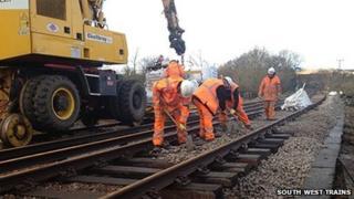 Isle of Wight Island Line repairs