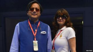 Shashi Tharoor and Sunanda Pushkar (File photo)