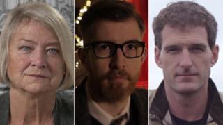 Katie Adie, Gareth Malone and Dan Snow composite