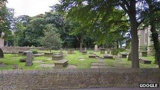 The cemetery at All Saints Vicarage in Church Lane, Stockport