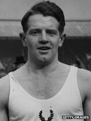 Sir Chris Chataway, pictured in 1952