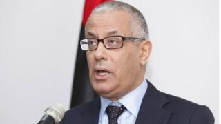Prime Minister Ali Zeidan speaks during a news conference in Tripoli