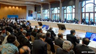 General view of the assembly taking part in Geneva II peace talks