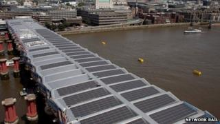 Blackfriars station solar panels