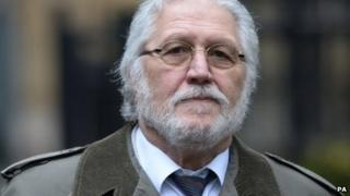 Dave Lee Travis arriving at court on 22 January