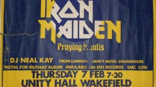 Ticket for Iron Maiden concert at Unity Hall
