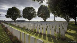 Arras Road British Cemetery. Roclincourt. Near Vimy in France