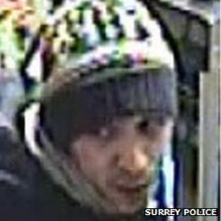 CCTV image of suspect