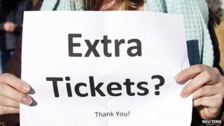 Sign asking for extra tickets