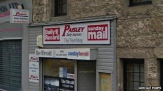 Paisley newsagents