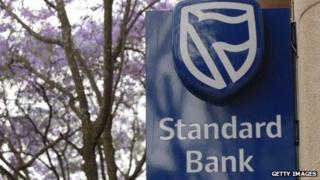 A Standard Bank sign