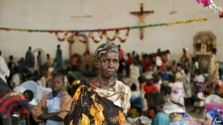 South Sudanese take refuge in the Malakal Catholic Church