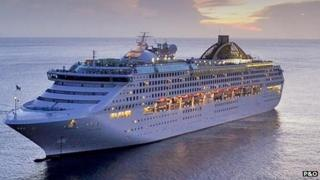 Oceana cruise ship on the sea