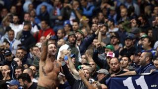 Napoli fans will visit the Liberty Stadium in the first leg of the tie