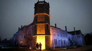 Illuminated Lacock Abbey