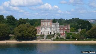Branksea Castle on Brownsea Island