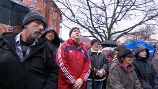 Torquay Town Hall vigil