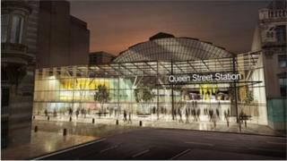 Image of redeveloped Queen Street Station
