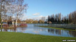 Flooded Christchurch Meadows