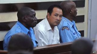 Tang Yong Jian in a Nairobi court (