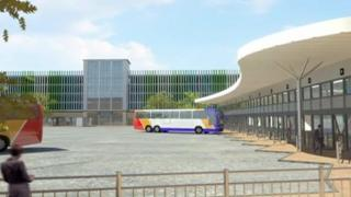 Artists impression of new bus station