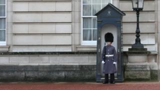 Guard in the sentry box