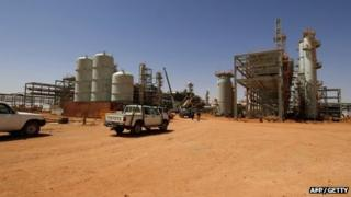 The In Amenas gas field in Algeria