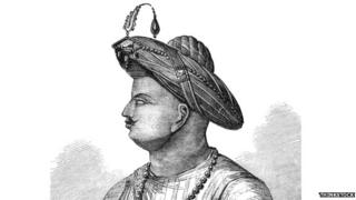 A drawing of Tipu Sultan