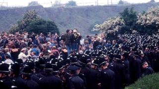 Orgreave clashes during miner's strike