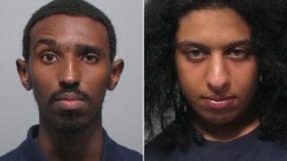 Jama Abdullahi (l) and Badrdyen Saeed (r)