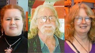 (L to R) Corrin Baker, Archie McKelvie and Pauline Barker