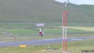 Coastguard helicopter at Sumburgh