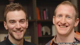 (L) Jonny Benjamin and Neil Laybourn