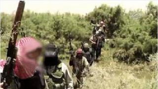 Jihadist fighters in Syria