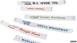 Cash's name tapes