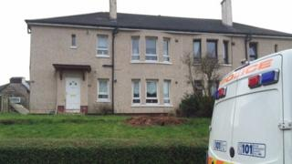 Police at house in Carntyne