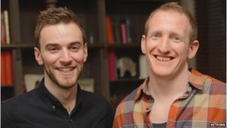 Jonny Benjamin (l) and Neil Laybourn (r)