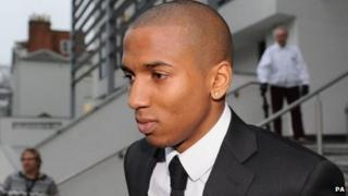 Manchester United footballer Ashley Young at the Warwickshire Justice Centre, Leamington Spa
