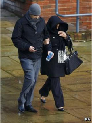 Raza Khan and his wife Paramjeet Kaur arrive at Winchester Crown Court