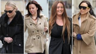 From left to right: Stephanie Pye, Rachel Goodchild, Mandy Cool and Charlotte Devaney