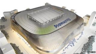 Concept image of Real Madrid's new stadium
