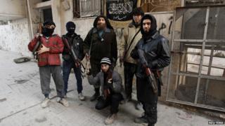 Al-Nusra fighters - file pic